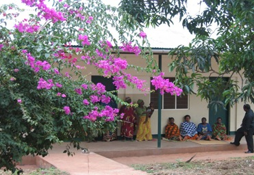 Mothers Outside the New Maternity Hostel