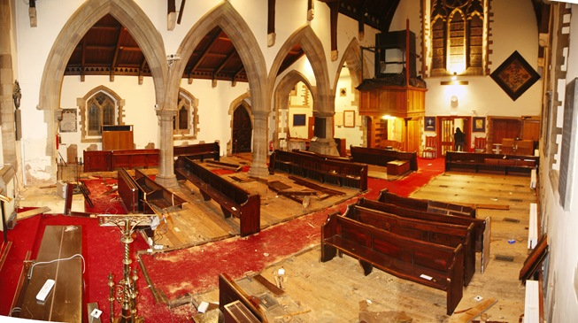 Week 1 - Pew Removal Panorama