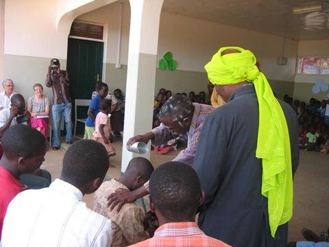 the prophet Samuel annoints the boy David