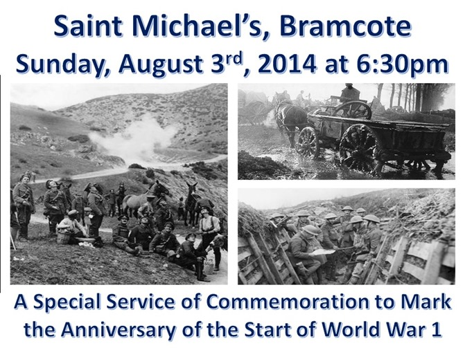 SERVICE - Commemoration of the Start of WW1 (August 2014)