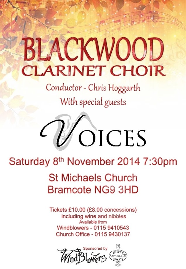 Blackwood Concert Posters (November 2014)