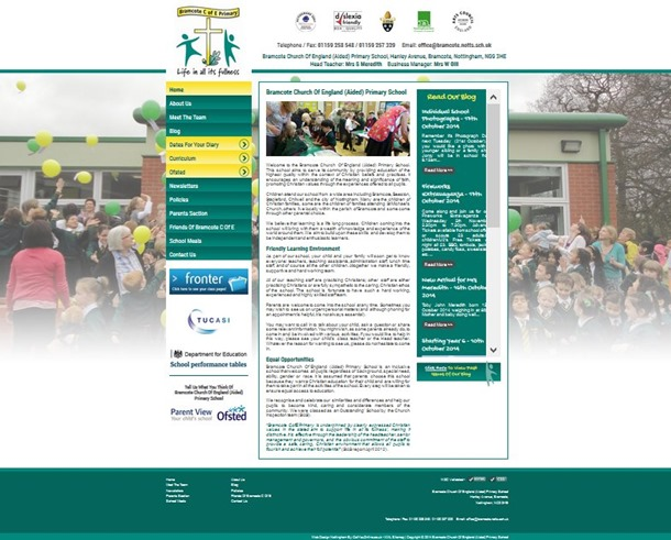Website Front Page