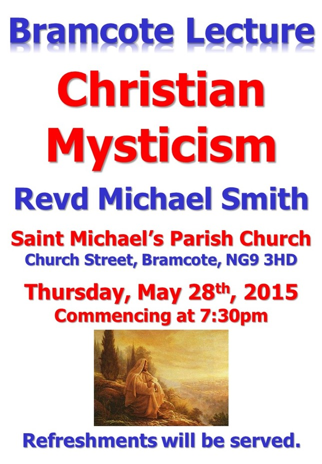 Bramcote Lecture - Mysticism - Michael Smith (A4 Poster)