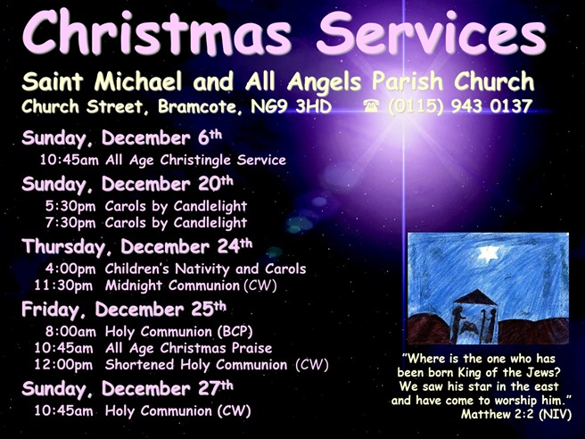 Christmas Services Poster (2015)