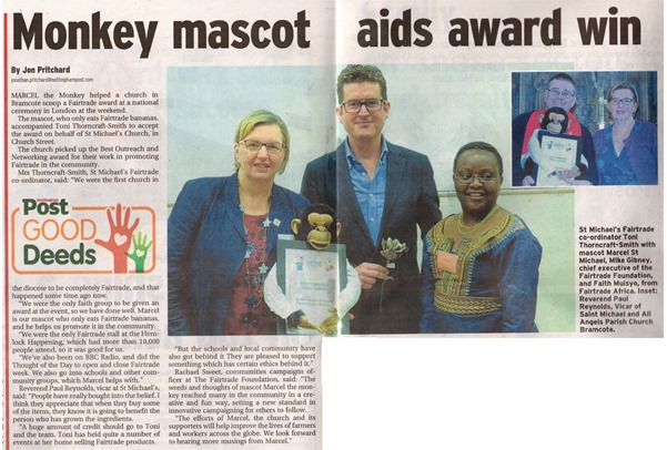 Fairtrade Award (October 2015) - Nottingham Post Article (Web Varient)