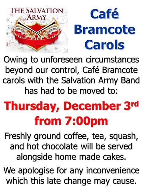 Cafe Bramcote Date Change (2015) Notice