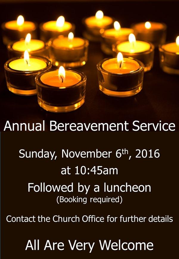 Bereavement Service Poster (2016)