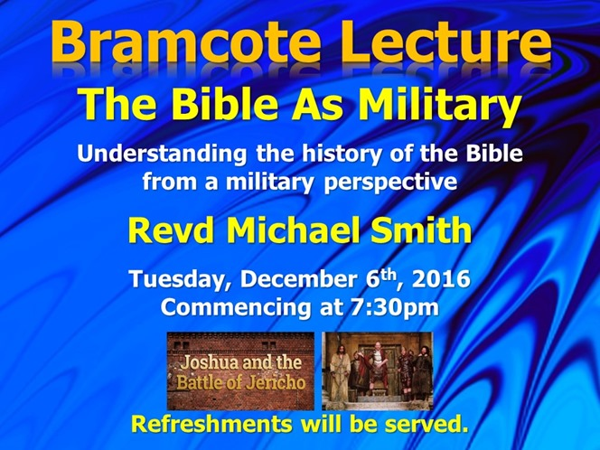 Bramcote Lecture - Military - Michael Smith (Web Poster)