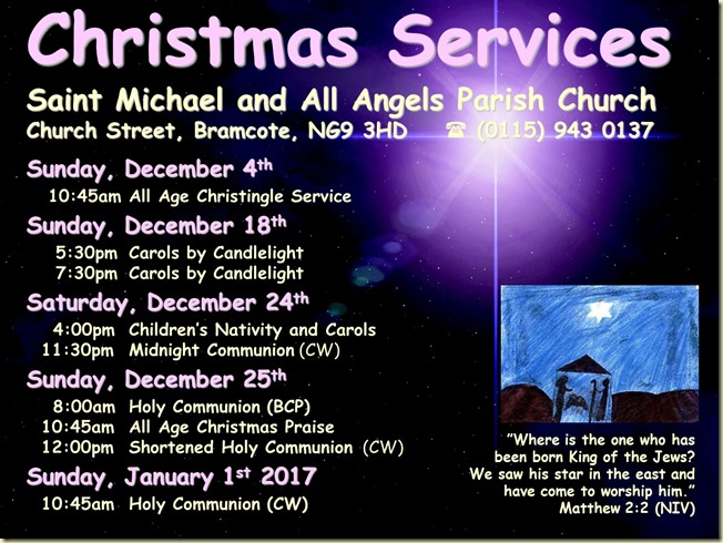 Christmas Services Poster (2016)