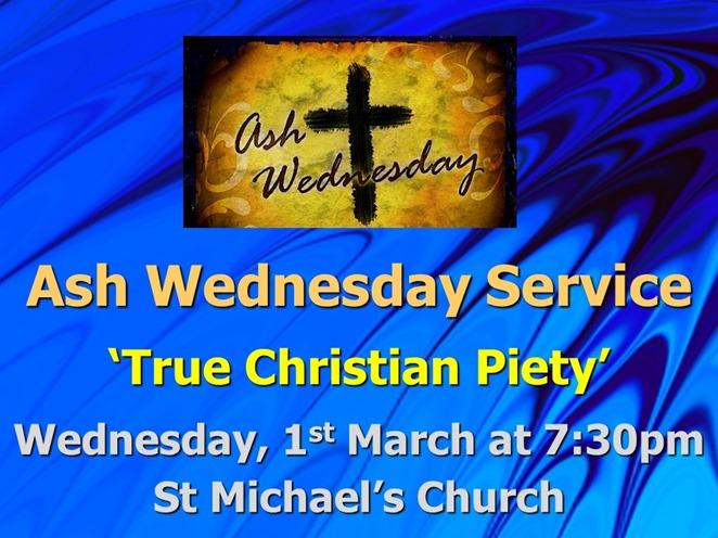 Ash Wednesday Service (2016)