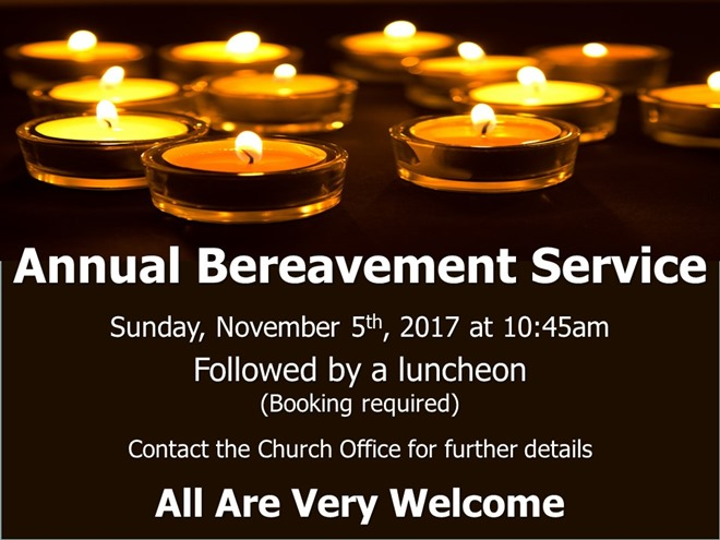 Annual Bereavement Service (2017)