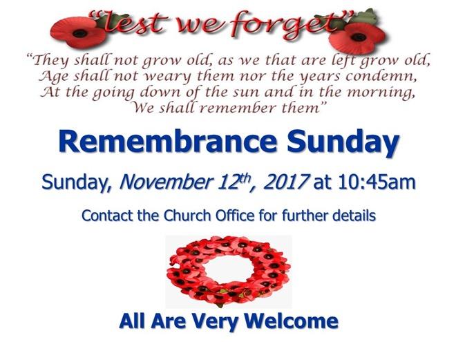 Remembrance Sunday (2017)