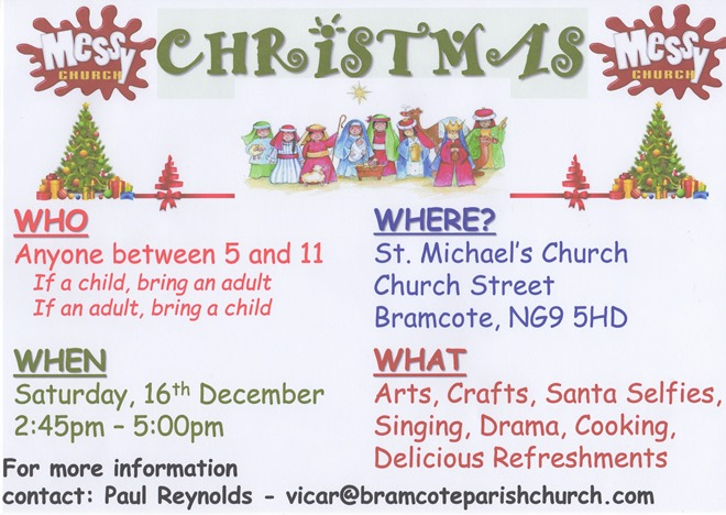 Messy Church Flyer (December 2017)