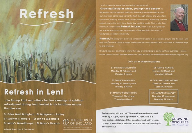 Refresh - Lent Course (2018) Flyer