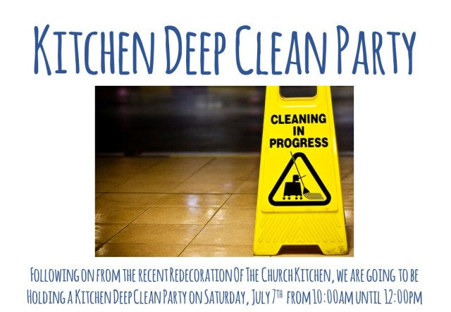 Kitchen Deep Clean Party (July 2018) Landscape