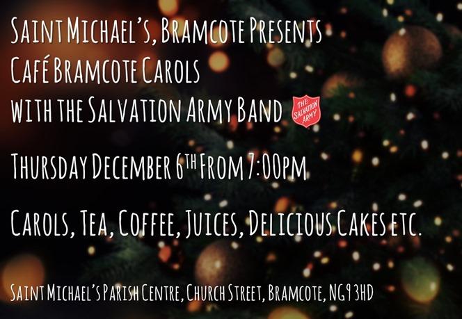Cafe Bramcote - Christmas Carols with the SA Band (2018)