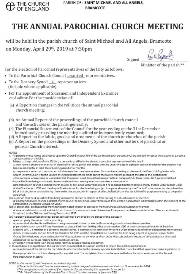 APCM Meeting Warning Document (2019)